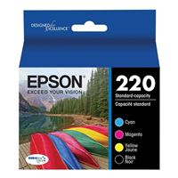 Epson T220120-BCS Black and Color Ink Cartridge Combo Pack