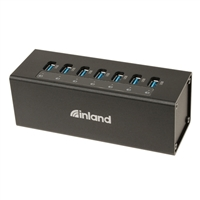 Inland 7-Port USB 3.0 Hub with Power Adapter