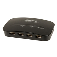 Inland 4-Port USB 3.0 Smart Charging Hub with Power Adapter