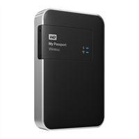 """WD My Passport Wireless 2TB SuperSpeed 3.0 USB 2.5"""" Wi-Fi Mobile Storage WDBDAF0020BBK-NESN"""
