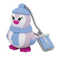 Emtec International 8GB USB 2.0 Flash Drive Lady Penguin