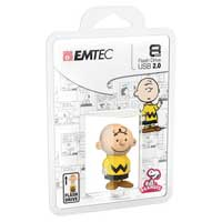 Emtec International Peanuts 8 GB USB 2.0 Flash Drive Charlie Brown