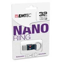 Emtec International T100 32 GB USB 3.0 Flash Drive Nano Ring