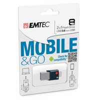 Emtec International T200 8GB OTG USB Flash Drive