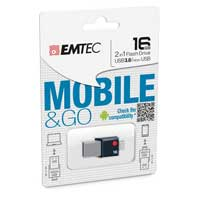 Emtec International T200 16GB USB 3.0 OTG Flash Drive