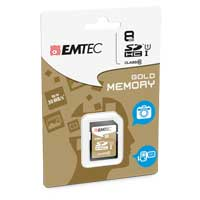 Emtec International 8GB Class 10 Secure Digital High Capacity SDHC Flash Media Card with Adapter ECMSD8GHC10