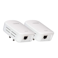 Linksys PLEK 500 Powerline HomePlug AV2 1 Port Gigabit Ethernet Kit