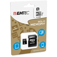 Emtec International 8GB microSDHC Class 10 / UHS-1 Flash Memory Card with Adapter