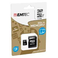 Emtec International 32GB microSD Class 10 / UHS-1 Flash Memory Card with Adapter
