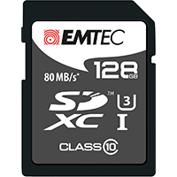 Emtec International 128GB Class 10 Platnium Secure Digital High Capacity SDHC Flash Media Card ECMSD128GXC10PL