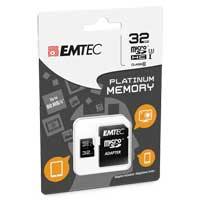 Emtec International 32GB Platinum microSDXC Class 10 / UHS-3 Flash Memory Card with Adapter