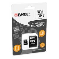 Emtec International 64GB microSDXC Class 10 / UHS-3 Flash Memory Card with Adapter