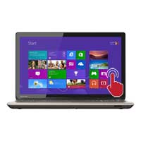 "Toshiba Satellite P55T-B5360 15.6"" Laptop Computer - Brushed Aluminum Finish in Satin Gold"
