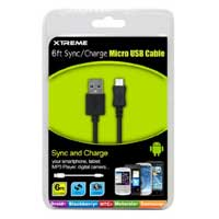Xtreme Cables 6 ft USB Micro-B to USB A Cable