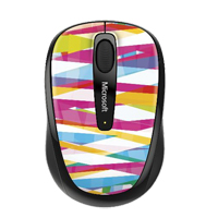 Microsoft Wireless Mobile Mouse 3500 - Bandage Stripes