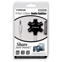 Xtreme Cables 5 Port 3.5mm Audio Splitter - Assorted Colors