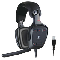 Logitech G35 USB 2.0 Connector Dolby 7.1 Surround Sound Headset - Black