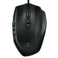 Logitech G600 MMO Laser Gaming Mouse - Black