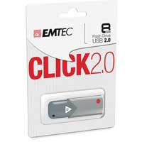Emtec International B100 Click 8GB USB 2.0 Flash Drive