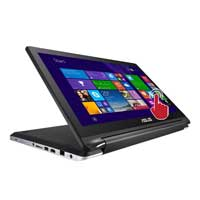 "ASUS Flip R554LA-RH31T 15.6"" 2-in-1 Laptop Computer - Black"