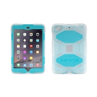Griffin Survivor Case for iPad mini - Clear/Blue