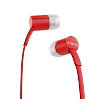 Sol Republic JAX Single Button Stereo Earbuds - Vivid Red