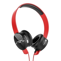 Sol Republic Tracks 3 Button On Ear Headphones - Red