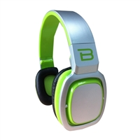 Bytech HEADSET W/MIC GREEN/GREY