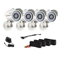 Zmodo ZMD-P4-YARUZ4ZN-N 700TVL High Resolution Day Night Weatherproof Outdoor Camera Kit