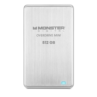 Monster Digital 512 GB Overdrive Mini USB 3.0 External SSD drive