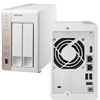 QNAP TS-251 Turbo Network Attached Storage (NAS) Server - Diskless