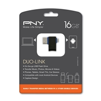 PNY 16GB DUO Link OTG Usb 2.0 Flash Drive