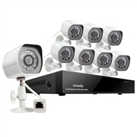 Zmodo 8 Channel HD NVR System with 8 Outdoor IP Cameras w/ 2TB HDD