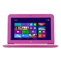 "HP Stream 11-d020nr 11.6"" Laptop Computer - Gradient Micro Dot in Orchid Magenta"