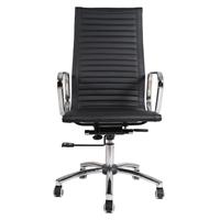 Tall Back Chrome Task Chair Black