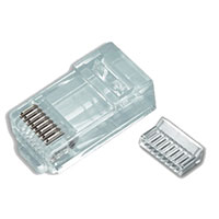Platinum Tools RJ45 (8P8C) Cat6 2 pc. Round Solid 3-Prong - 100 Pack