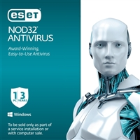 ESET NOD32 Antivirus 2015 1 User 3 Year OEM (PC)