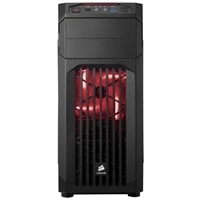 Corsair Carbide SPEC-01 Red LED ATX Mid-Tower Computer Case - Black