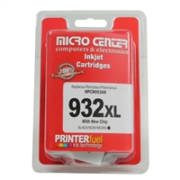 Micro Center Remanufactured HP 932XL with Chip Black Ink Cartridge