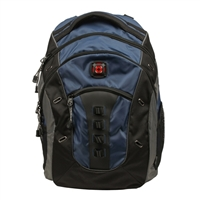 "Swiss Gear Granite Notebook Backpack Fits Screens up to 16""- Blue/Black"