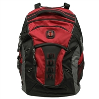 "Swiss Gear Granite Notebook Backpack Fits Screens up to 16""- Red/Black"