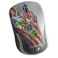 Verbatim Tattoo Series Wireless Notebook Multi-Trac Blue LED Mouse - Dragon