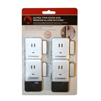 Doberman Ultra Thin Door and Window Alarm w/ Chime - 4 Pack