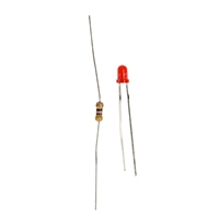 Wicked Device Red LEDs and Resistors - 20 Pack