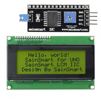 SainSmart IIC/I2C/TWI Serial 2004 20x4 Yellow LCD Module Shield For Arduino UNO MEGA R3