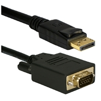 QVS 15 ft. DisplayPort to VGA Video Cable w/ Latches