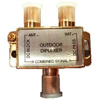 Vanco Satellite TV Diplexer for Non-Amplified Antennas