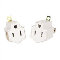 Inland Grounding Adapter (2 Pack) - White