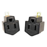 Grounding Adapter (2 Pack) - Black