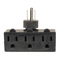 Inland 3-Outlet Swivel Adapter - Black
